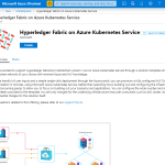 Hyperledger Fabric on Azure Kubernetes Service Marketplace template